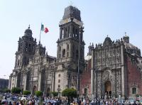 De Kathedraal Metropolitana in Mexico-City.